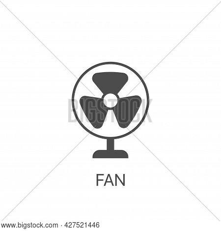 Fan Simple Vector Line Icon Jet Turbine Sign. Ventilator Symbol