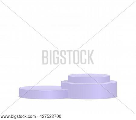 3d Podium, Pedestal, Round Stand Stage, Cylinder.