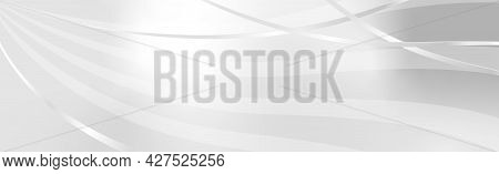 White - Gray Vector Background With Wavy Lines