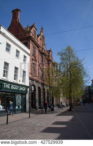 Views Of The Shopping Precinct In Gloucester In The Uk, Taken On 24th April 2021