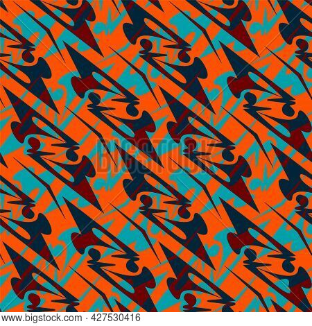 Abstract Decorative Seamless Unique Pattern With Repeat Abstract Elements