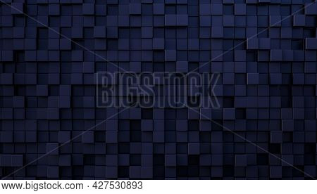 abstract mosaic background in blue and enre shades. 3d render. nobody