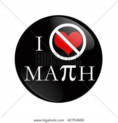 I Hate Math Button