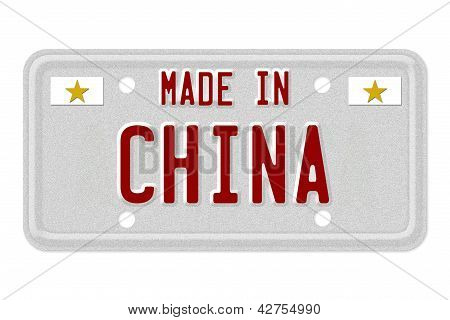 Made In China License Plate