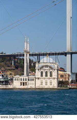 Buyuk Mecidiye Mosque In Istanbul City, Turkey