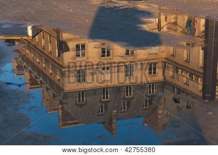 Reflect In The Piramides Square, Paris, Ile De France, France