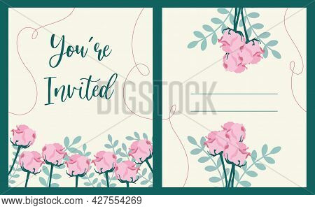 Wedding Invitation Of The Bride And Groom. Lettering, Wedding.