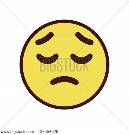 Isolated Pensive Emoji Face Icon Vector Illustration