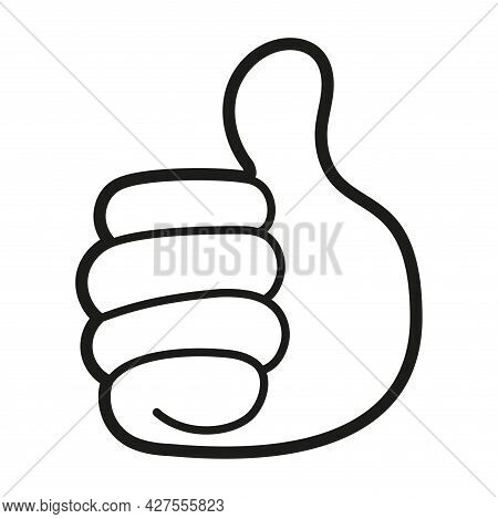 Isolated Thumb Up Hand Emoji Vector Illustration