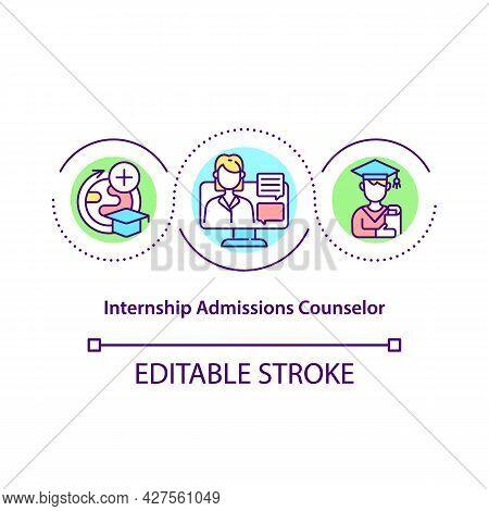 Internship Admissions Counselor Concept Icon. Intern Program Coordinator Abstract Idea Thin Line Ill