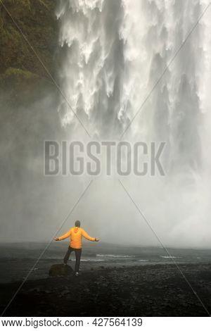 Skogafoss Waterfall in Iceland, Europe
