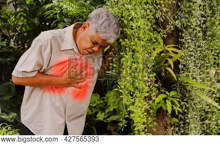An Elderly Man Is Sick With Lung Disease. I Have Severe Chest Pain And Shortness Of Breath, I Am Wal