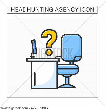 Vacancies Color Icon. Unoccupied Positions At Work. Vacant Job For New Employee.headhunting Agency C