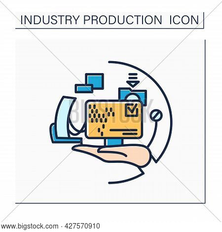 Software Industry Color Icon. Software Development. Computer Engineering. Modern Smart Technologies