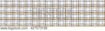 Masculine Check Kid Seamless Border Pattern. Classic Retro Criss Cross Design For Digital Masking Ta