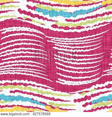Watercolor Doodle Stripe Background. Hand Painted Whimsical Broken Line Seamless Pattern. Decorative