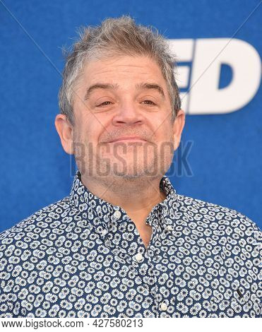 LOS ANGELES - JUL 15: Patton Oswalt arrives for the ''Ted Lasso' Season 2 Premiere on July 15, 2021 in West Hollywood, CA