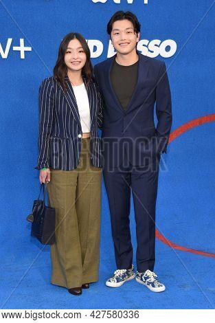 LOS ANGELES - JUL 15: Maia Shibutani and Alex Shibutani arrives for the ''Ted Lasso' Season 2 Premiere on July 15, 2021 in West Hollywood, CA