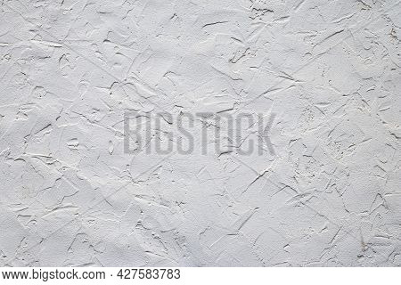 Gray Concrete Wall Texture. Grunge Cement Wall, Material. Modern Pattern For Decorative Design. Grey
