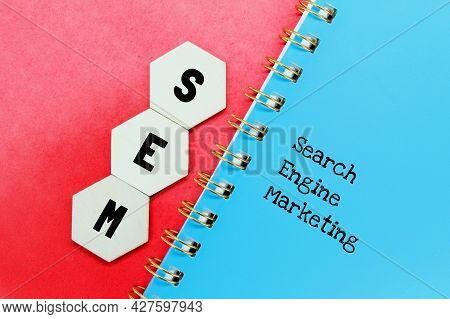 Hexagon, Notebook With Sem Letters. Business Concept