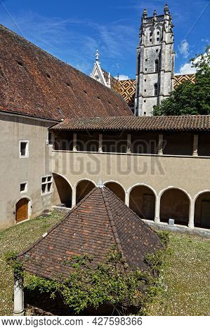 Bourg-en-bresse, France, June 29, 2021 : In A Cloister Of Brou Royal Monastery