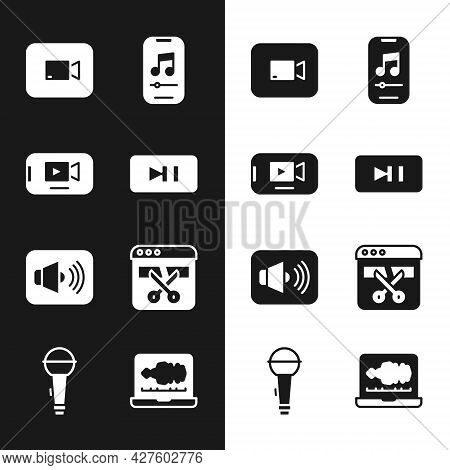 Set Pause Button, Online Play Video, Play, Music Player, Speaker Volume, Video Recorder Or Editor, S