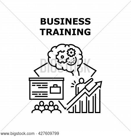 Educational Business Training Vector Icon Concept. On Educational Business Training Trainer Teaching