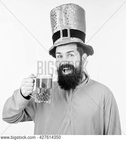 Cheers Concept. Colored Patricks Beverage. Green Color Part Of Celebration. Irish Beer Pub. Celebrat