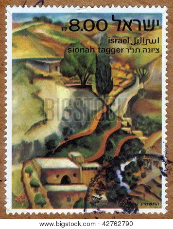 Landscape By Sionah Katz (tagger), Painter Of Israel