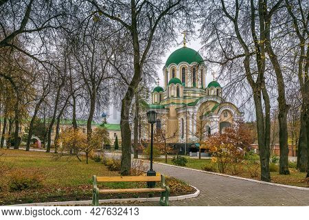 Transfiguration Cathedral In Tikhonov Assumption Monastery, Russia