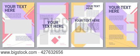 Client Service Brochure Template. Info Article. Flyer, Booklet, Leaflet Print, Cover Design With Cop
