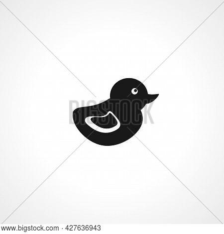 Bath Duck Icon. Bath Duck Simple Vector Icon. Bath Duck Isolated Icon.
