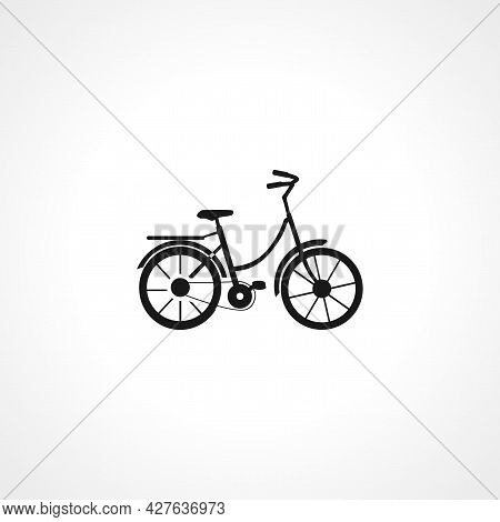Bicycle Icon. Bicycle Simple Vector Icon. Bicycle Isolated Icon.