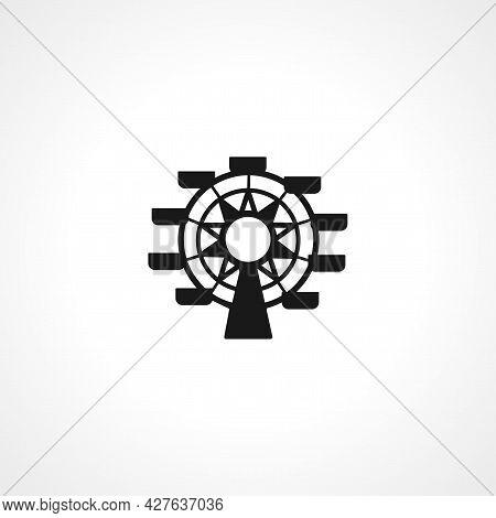 Ferris Wheel Icon. Ferris Wheel Simple Vector Icon. Ferris Wheel Isolated Icon.