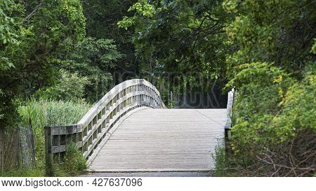 The Bridge That Cross Country Runners Cross While Racing At Sunken Meadow State Park In Kings Park L