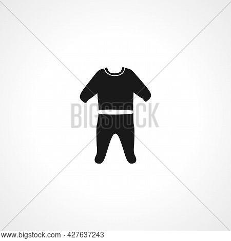 Pajama Icon. Baby Pajama Simple Vector Icon. Baby Pajama Isolated Icon.