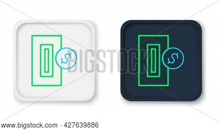 Line Hand Inserting Coin To A Slot On A Vending Machine Or Arcade Machine Icon Isolated On White Bac