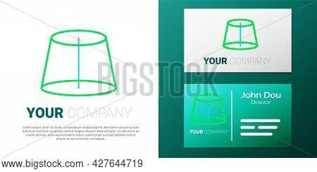 Line Geometric Figure Icon Isolated On White Background. Abstract Shape. Geometric Ornament. Colorfu