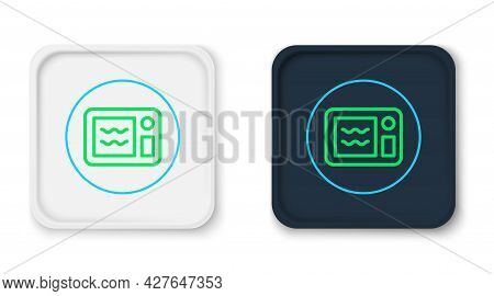Line Microwave Oven Icon Isolated On White Background. Home Appliances Icon. Can Be Heated In Microw