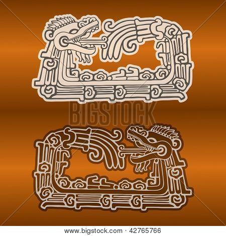 Maya snake Quetzalcoatl ouroboros