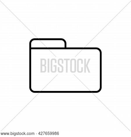 Folder Black Line Icon. On White Background. Trendy Flat Isolated Symbol Sign Can Be Used For: Illus