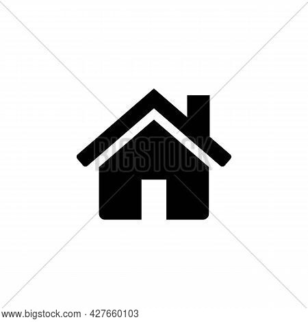 Home Or House Page Thin Line Icon In Solid Black. Return To Home Page Concept. Trendy Flat Isolated