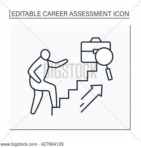 Professional Advancement Line Icon. Opportunities For Advancement. Rapid Career Growth.career Assess