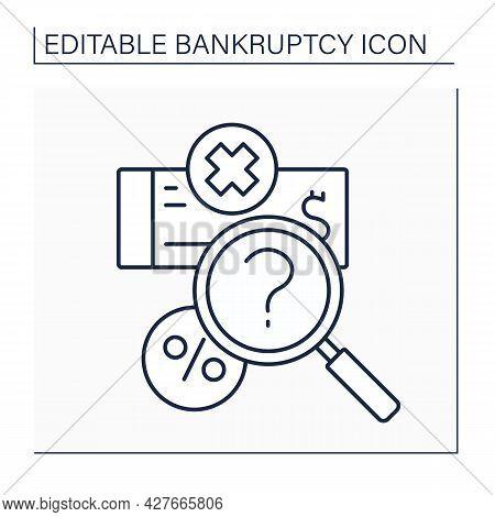 Valuation Line Icon. Asset-based Valuation Method. Appraisal-based Fair Market Mark.bankruptcy Conce