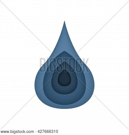Water Purification Stages. Liquid Drop, Water, Oil Color Icon. Trendy Flat Isolated On White Symbol,