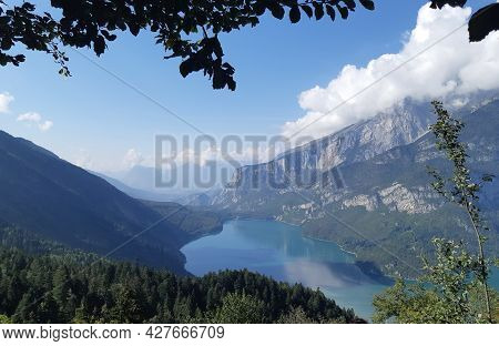 Landscape Nature Lake Molveno Trentino Italy Landscape Nature Lake Molveno Trentino Italy