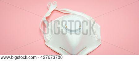 Medical mask  on background, Coronavirus protection. Respirator face mask  – a covid- 19 protective mask