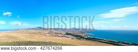 panorama of canary island fuerteventura