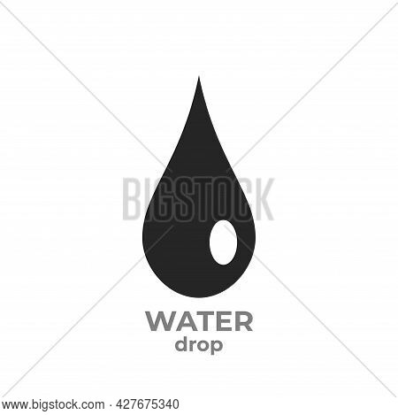 Water Drop Icon. Water Droplet Symbol. Isolated Vector Image
