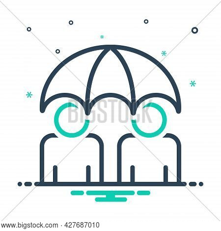 Mix Icon For Insurance Permanent Life-insurance  Policy Long-term Umbrella Safety Care Health